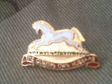 Queen Own Hussars Lapel Military Badge