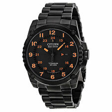 NEW Citizen Eco Drive BJ8075-58F Black Titanium Orange Accent Sport Men's Watch