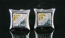 MENS/LADIES MULTI 8MM KITE DIAMOND STUD EARRINGS .35 CT