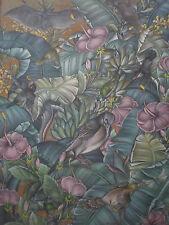 Balinais peinture. faune huile/acrylique sur toile