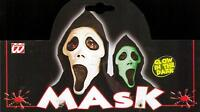 MASCHERA CARNEVALE HALLOWEEN, TIPO SCREAM, SCARY MOVIE, MASK WIDMANN - TONZANI -