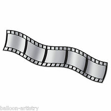 25ft Hollywood VIP Awards Movies Party Metallic Filmstrip Banner Decoration