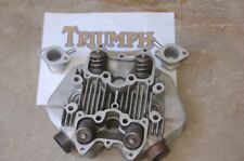1969 -1970 Triumph 650 Bonneville Cylinder Head with Valves Carb Adapters EC