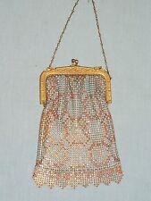 Antique Whiting & Davis Enameled Mesh 1920-30's Purse
