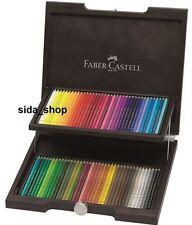 72 Faber Castell POLYCHROMOS Farbstifte Künstlerfarbstifte im Holzkoffer NEU