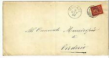 Z21921-LOMBARDIA, MERATE, NUMERALE A SBARRE PER VERDERIO, 1882
