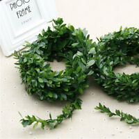 KQ_ BE_ KM_ 7.5M Garland Green Leaf Wire Vine Rattan Artificial Flower for DIY W