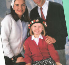 Family Classic Cardigans Easy to Knit DK Knitting Pattern