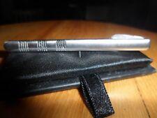gents silver coloured metal tie clip