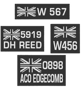 EMBROIDERED CHOICE OF THIN SILVER LINE  PRISON SERVICE PATCHES WITH OPTIONS