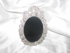 Mini Hand Made Oval Scrying Mirror Psychic Wicca