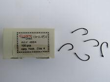 Pêche carpe - boîte de 100 hameçons n° 4, toutes méthodes
