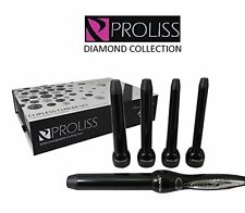 Proliss Diamond Collection Curling Iron Wand 5-Piece Clipless Curler