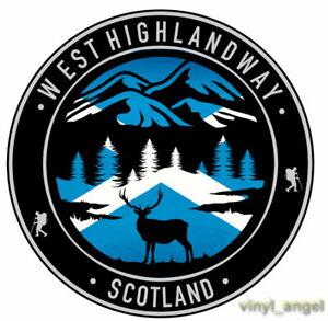 2x West Highland Way Scotland Deer Mountains Scottish Flag Vinyl Sticker #2157