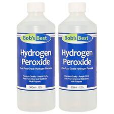 Food Grade Hydrogen Peroxide - 12% Solution - 1000ml - from Bob's Best
