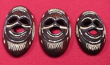 Tiki Masks. Primitive Polynesian Pacific Island Hand-Carved Wood