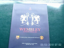 PROGRAMME UEFA FOOTBALL FINALE CHAMPIONS LEAGUE BARCELONE MANCHESTER 2011
