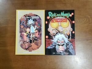 Rick and Morty vs. Dungeons & Dragons Vol. 1 & 2 SET TPB GN OOP IDW / Oni Press
