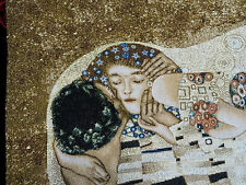 Wandteppich Gobelin aus Italy Gustav Klimt L´Albero KISS GLITZER 115x70 cm
