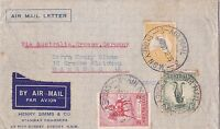 MD40) AUSTRALIA 1932 5/- GREY & YELLOW KANGAROO C of A wmk