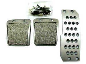 New Aluminum Mugen Non Slip Sport Pedal Brake Pad Covers Manual Car 3 PCS