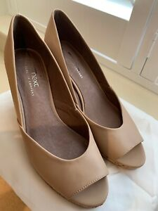 Next Ladies Nude Wedge Shoes - Size 8