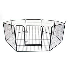 "40"" 8 Panel Pet Playpen Portable Exercise Cage Fence Enclosure Dog Puppy Rabbit"