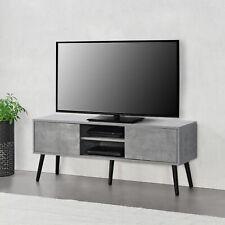 [en.casa] Fernsehtisch TV Lowboard Board Fernseher Schrank Unterschrank Beton