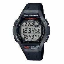 Casio WS2000H-1AV, Step Tracker, 100 Meter WR, Black Resin, 5 Alarms, Chrono