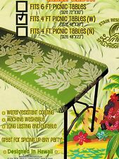 Hawaiian fitted tablecloth Luau Party for 4 ft picnic 48x30 center folding table