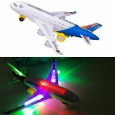 ELECTRIC TOY WITH LIGHT & MUSIC KIDS AIRPLANE AIRBUS BUMP AND GO TOYS
