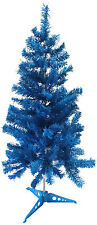 BLUE CHRISTMAS TREE 2.9ft Height 1.5ft Wide Fake Tree Ambassador Tree & Stand