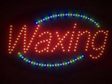 """""""WAXING"""" 27x15x1 Oval Solid/Animated LED Lighted/Illuminated Salon Sign BRIGHT!"""