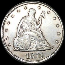 1875-CC Seated Liberty 20 Cents Silver Carson City Coin.