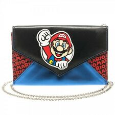 Officially Licensed Nintendo Super Mario Quilted Envelop Purse Wallet Clutch NEW