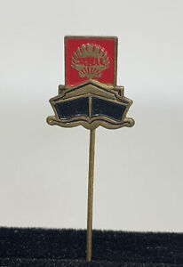 Vintage  SHELL Oil Fuel Petrol stick pin badge Rare Black And Red