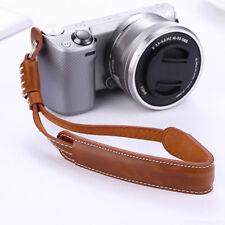 Anti-slip PU Leather Camera DSLR SLR Hand Grip Wrist Strap Belt Lanyard