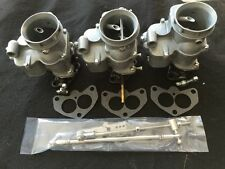 HOLLEY 94  TRI POWER CARB SET WITH LINKAGE VINTAGE SPEED HOT ROD RAT  FUEL SETUP