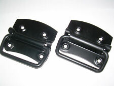 """4 x CHEST HANDLES 4"""" (100mm) BLACK (pack of 2)"""