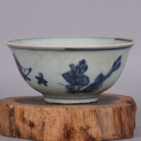 Chinese ancient antique hand make  Fish bowl with blue and white fish