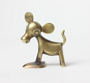Hagenauer Wien Standing Calf Miniature Brass, 1950's, Austria