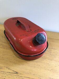 Vintage Retro red metal petrol petroleum spirit Fuel Display Classic Car Bike