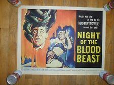 Night Of The Blood Beast ORIGINAL 1958 HALF-SHEET POSTER Horror Monster VF COND