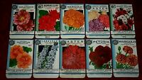 "New Find! Lot of 10 Vintage 1934 ""Better Homes"" Seed Packets Crosman Seed Co."