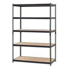 Edsal UR245LBLK Muscle Rack 5-Shelf Steel Shelving Unit