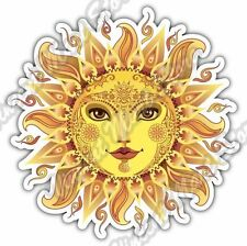 Cheerful Sun Abstract Ornament Colorful Car Bumper Vinyl Sticker Decal 4.6""