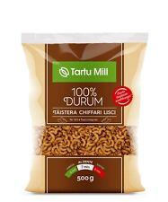 100% WHOLE GRAIN DURUM WHEAT SEMOLINA PASTA CHIFFARI LISCI Nr183 (3x500g) 1.5kg