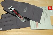 the north face mens etip touchscreen compatible gloves gray grey black palm xl