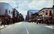 Norfolk Virginia America Color AK 1955 Granby Street Downtown shopping area