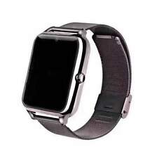 Stainless smart watch phone (black)